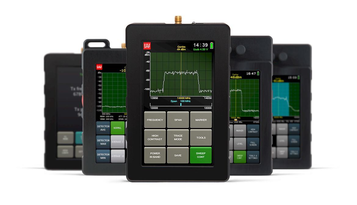 SAF Blog > Handheld V-Band Spectrum Analyzer for 56 to 67 GHz